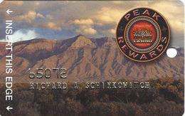 Sandia Casino - Alburquerqe, NM - Slot Card - No Text Over Mag Stripe / 2.5cm Logo / Embossed Player Info - Casino Cards