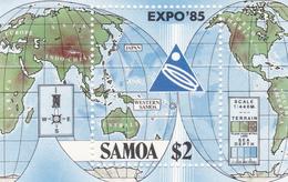 Samoa SG 705 Expo 85 World Fair , Souvenir Sheet Mint Never Hinged - Samoa