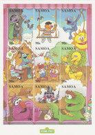 Samoa SG 1060-1068 2000 Sesame Street  Sheetlet - Samoa