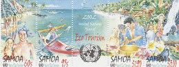 Samoa SG 1080-1083 2002 International Year Of Ecotourism  Strip - Samoa
