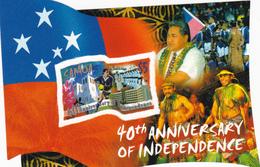 Samoa SG 1089 2002 40th Anniversary Of Independence Miniature Sheet,mint Never Hinged - Samoa