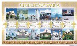 Samoa SG MS 1204 2007 Churches Miniature Sheet ,mint Never Hinged - Samoa