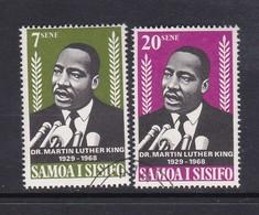 Samoa SG 313-314 1968 Martin Luther King,used - Samoa