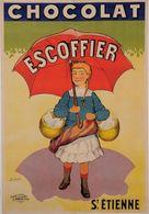 Chocolat Escoffier St.Etienne 1920s - Postcard Reproduction - Publicité