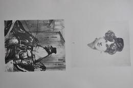 GRAVURES 1225-1226 / TÊTE DE FEMME Par ADOLPHE CALS / COCHER Par EUGENE LEROUX Né à CAEN En 1811 - Prints & Engravings