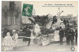 TOURS - 1908 Grandes Fêtes D'été - Char Du Vouvray-Monopole Et Des Vins De Touraine - Tours