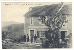 Cpa St Privat De Vallongue - La Poste - France