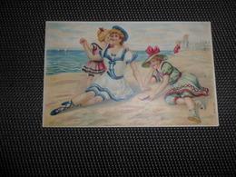 Carte Gaufrée  Reliëf   Femme   Baigneuse   Baadster - Femmes