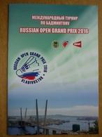 Russian Open Grand Prix 2016  International Badminton Tournament Programme - Sports