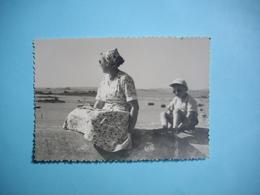 PHOTOGRAPHIE  TREBEURDEN  -  22  -  Sur Le Port  - 8,2  X  11,8 Cms - 1955  - Côtes D'Armor - Trébeurden