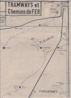 CHARLEROI GRANDE AGGLO/MERATION CARTE LB6 TRAMWAYS ET CHEMINS DE FER 1:15000 EME - Documents Historiques