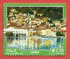 ITALIA REPUBBLICA USATO - 2014 - TURISMO - Lovere - € 0,70 - S. 3497 - 2011-...: Afgestempeld