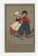 CPA Illustrateur Ethel Parkinson Enfants Hollandais Fumeur Cigare Sabots 1911 - Parkinson, Ethel