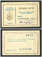 Yugoslavia  Jubilee Ticket  BUS 1960 Transportation City Belgrade - Europe