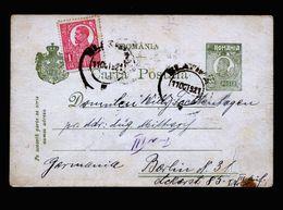 A5274) Rumänien Romania Karte 11.10.21 Nach Berlin - 1918-1948 Ferdinand, Carol II. & Mihai I.