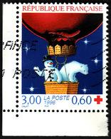 FRANCE  1996  -  Y&T  3039  - Croix Rouge - Ours Et Bonhomme De Neige  -  Oblitéré - Used Stamps