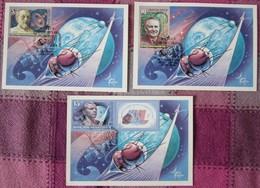 Sowjetunion USSR CCCP 1986 - Ziolkowskij, Koroljow, Jurij Gagarin - MiNr 5591-5593 MK - FDC & Gedenkmarken