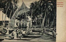 COLOMBO FISHERMEN AT WORK    SRI LANKA . CEYLON CEYLAN - Sri Lanka (Ceilán)