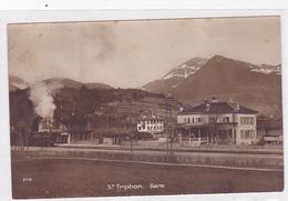 Cpa-sui- St Triphon-gare (avec Train)-edi Perrochet & David N°5710 - VD Vaud