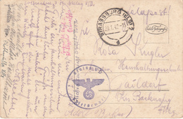 CP Avec Cachet De Franchise Du Stalag V D Obl STRASSBURG (ELS) 2 Du 29.1.42 Adressée à Gaildorf - Marcofilie (Brieven)