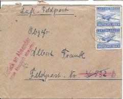 TP N° PM 1 En 2 Ex Sur Enveloppe Du Secteur 21591 Pour Götzeroth - Covers & Documents