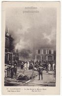 GREECE Salonica, Fire Of 1917 Burning Of The Russian House Vintage Thessaloniki, Salonique Postcard - Greece