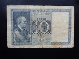 ITALIE : 10 LIRE  1944 - XXII  P 25c / CI 16 / BS 46 *  B+ - [ 1] …-1946 : Kingdom