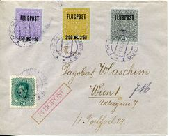 1918-AUSTRIA- AIR POST ON COVER -  LUXE ! - Luftpost
