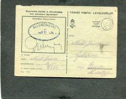 Deutsches Reich  POW Hungar Postkarte 1944 - Deutschland