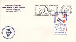 TAAF Liaison Aérienne Terre Adélie - Mac Murdo Opération D 59 Oblitération Du 25/12/1977 - Terres Australes Et Antarctiques Françaises (TAAF)