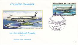 Polynésie Française Enveloppe Premier Jour 19/12/1979 Avion DC4 - Lettres & Documents