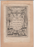 Série Gravures Th. De LEU - Stampe & Incisioni