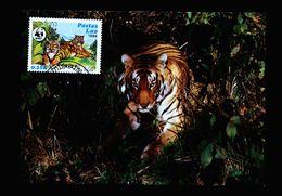 A5277) Laos 2 Maximumkarten Grosskatzen WWF 1984 - Laos