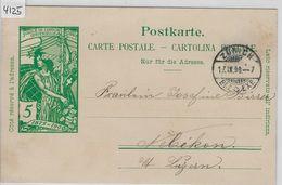 1900 UPU PK 31 - Stempel: Küsnacht Zürich To Nebikon 17.IX.00 - Entiers Postaux