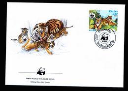 A5278) Laos 2 FDC Grosskatzen WWF 1984 - FDC