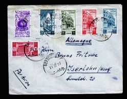 A5279) Liban Libanon Luftpostbrief Beyrouth 21 .2.55 N. Germany - Libanon