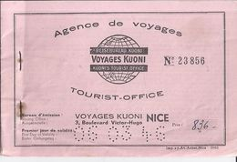AGENCE DE VOYAGES -   VOYAGES KUONI N° 23856 -NICE - Europe