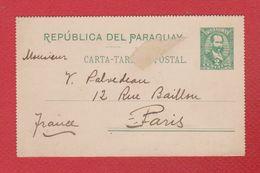 Paraguay  -  Entier Postal De Asuncion --  Pour Paris  --  1902 - Paraguay