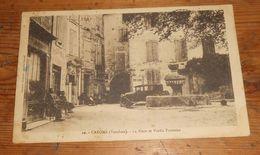 Caromb. La Place Et Vieille Fontaine. 1934. - Frankreich