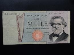 ITALIE : 1000 LIRE  25.3.1969  P 101a / CI 64 BS 479A   TTB+ - [ 2] 1946-… : République