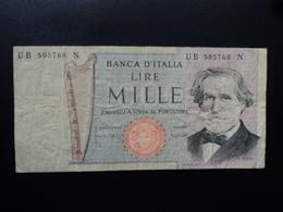 ITALIE : 1000 LIRE  11.3.1971  P 101b / CI 64 BS 480 *    TTB - [ 2] 1946-… : République