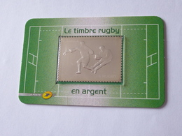 LE TIMBRE RUGBY 2011 : Timbre En ARGENT - Pays : FRANCE - Rugby