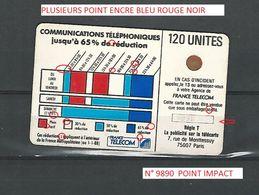 RARE VARIÉTÉS CORDON BLEU  120  UNITÉ UTILISÉE N° 9890 A VOIR - France