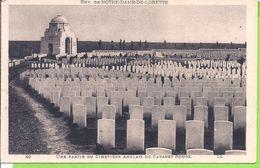 -- 62   --   ENVIRONS DE NOTRE DAME DE LORETTE -- UNE PARTIE DU CIMETIÈRE ANGLAIS DU CABARET ROUGE - France