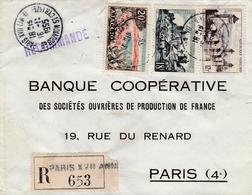 Recommandée Paris XVII Annexe 1 Pour Paris Yvert  981 Ajaccio -1039 Valentré-1040 Uzerche - Marcofilia (sobres)