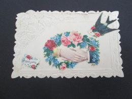 FANTAISIE - Ajouti De Mains Entourées De Fleurs Et Hirondelle - Fantasia