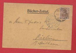 Allemagne  -  Bucher Zettel  -  Strasbourg  --  Pour Rixheim - Entiers Postaux