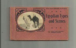 EGYPTE- CARNET 12 CP - Egytian Types And Scenes Portrait Femmes Seins Nus Bon état - Personnes