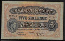 Kenya -  5 Schillings - 1-6-1939 - Pick N°26A - TTB - Kenia