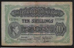 Kenya -  10 Schillings - 2-1-1939 - TB/TTB - Kenya